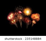 beautiful fireworks over sky at ...