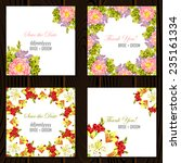 wedding invitation cards with... | Shutterstock .eps vector #235161334