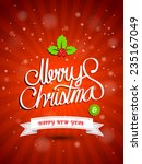 christmas greeting card. merry... | Shutterstock .eps vector #235167049