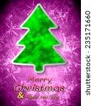 christmas tree from light... | Shutterstock .eps vector #235171660