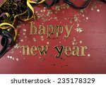 Happy New Year Gold Letters And ...