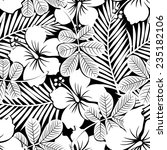 black and white tropical... | Shutterstock .eps vector #235182106