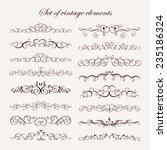 set  calligraphic vintage... | Shutterstock .eps vector #235186324