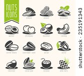 nuts icon set | Shutterstock .eps vector #235191343