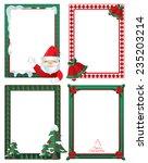 vector christmas border ... | Shutterstock .eps vector #235203214