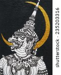 monkey in ramayana epic 1  thai ...   Shutterstock . vector #235203316