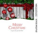 merry christmas against...   Shutterstock . vector #235205584
