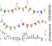 birthday pattern with flags | Shutterstock .eps vector #235208920