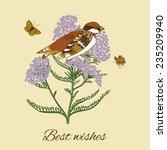 vintage flowers postcard design ... | Shutterstock .eps vector #235209940