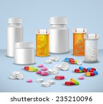 pills tablets and medicines in... | Shutterstock .eps vector #235210096