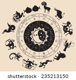 circle of the zodiac signs and... | Shutterstock .eps vector #235213150