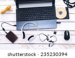 computer peripherals   laptop...   Shutterstock . vector #235230394