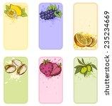 set of vector vintage labels... | Shutterstock .eps vector #235234669