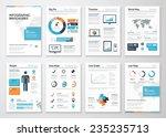 infographic brochure elements... | Shutterstock .eps vector #235235713