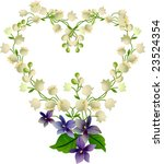 heart from lily of the valley | Shutterstock .eps vector #23524354