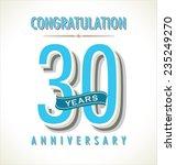 anniversary retro background | Shutterstock .eps vector #235249270