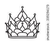 crown of princess | Shutterstock .eps vector #235256173