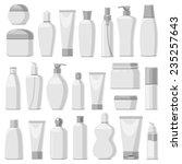 set of cosmetic bottles ... | Shutterstock .eps vector #235257643