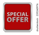 special offer square icon on... | Shutterstock . vector #235260976