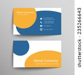 modern simple business card... | Shutterstock .eps vector #235266643