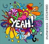 Fun  Colorful Doodle Backgroun...