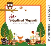 woodland card | Shutterstock .eps vector #235272124