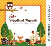 Stock vector woodland card 235272124