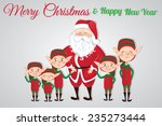 christmas card with santa claus ... | Shutterstock .eps vector #235273444