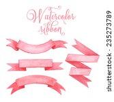 Watercolor Tape. Set Of Vector...