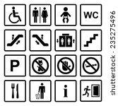 vector black public icons set... | Shutterstock .eps vector #235275496
