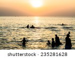 sunset and beach in holiday | Shutterstock . vector #235281628
