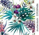 Jungle  Pattern  Watercolor