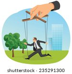 hand control a marionette...   Shutterstock .eps vector #235291300