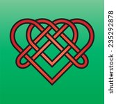 celtic endless knot red on a...   Shutterstock .eps vector #235292878
