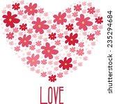 heart of love flowers | Shutterstock .eps vector #235294684