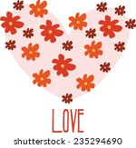 heart in love flowered | Shutterstock .eps vector #235294690