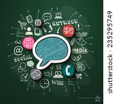 social network collage with... | Shutterstock .eps vector #235295749