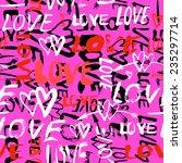 grunge vector seamless pattern... | Shutterstock .eps vector #235297714