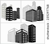 building icons set. vector... | Shutterstock .eps vector #235297768