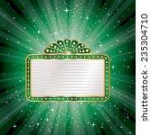 blank billboard on green... | Shutterstock .eps vector #235304710