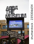Small photo of Stockholm, Sweden - October 31: View of the ABBA Museum in Stockholm, Sweden on October 31, 2014.