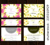 wedding invitation cards with...   Shutterstock .eps vector #235310929