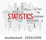 word cloud of statistics... | Shutterstock .eps vector #235313290