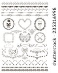 hand drawn doodle seamless... | Shutterstock .eps vector #235316998
