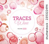 traces wine background. vector... | Shutterstock .eps vector #235322494