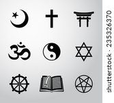 world religion symbols set with ... | Shutterstock .eps vector #235326370