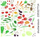 vegetable collection  colored... | Shutterstock .eps vector #235327714