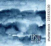 blue dark watercolor striped... | Shutterstock .eps vector #235332130