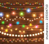 set of glowing christmas lights ... | Shutterstock .eps vector #235334710