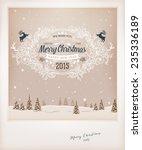vintage christmas greeting card ... | Shutterstock .eps vector #235336189
